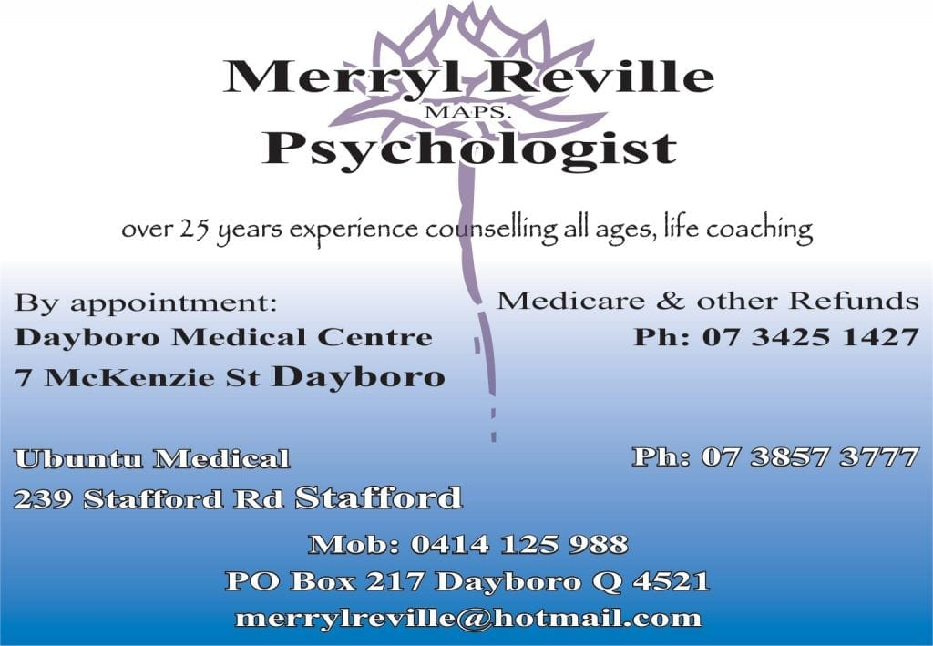 Merryl Reville MAPS. Psychologist.