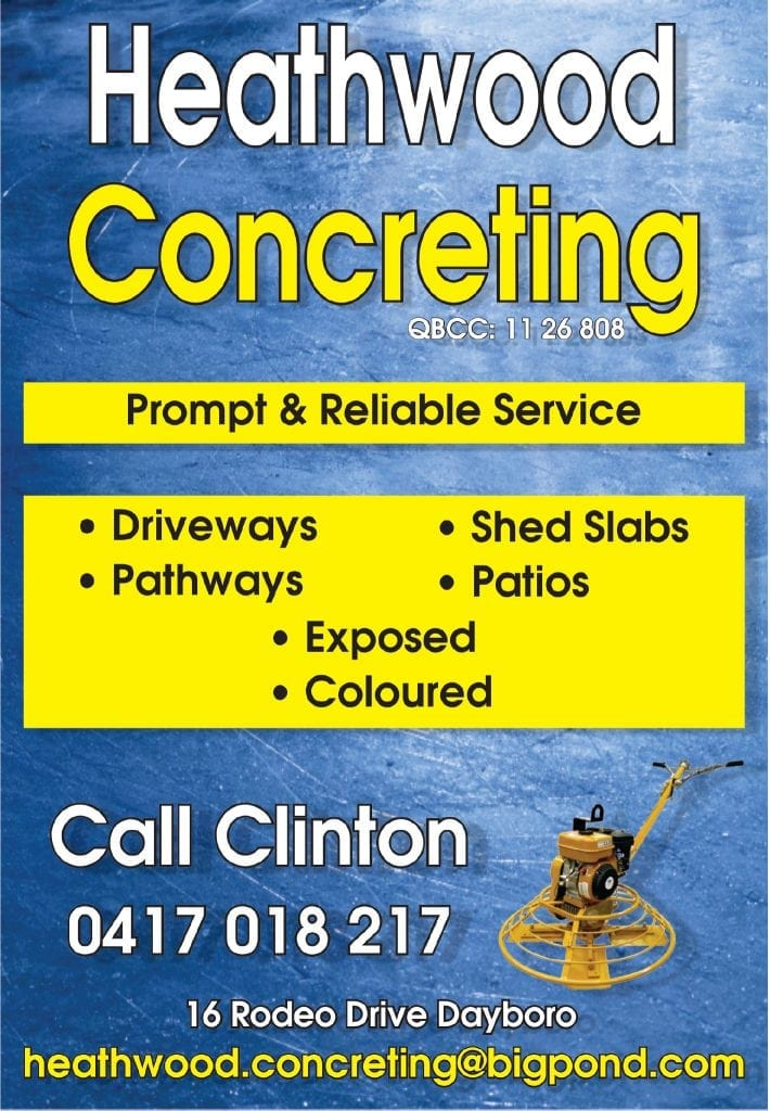 Dayboro Heathwood Concreting