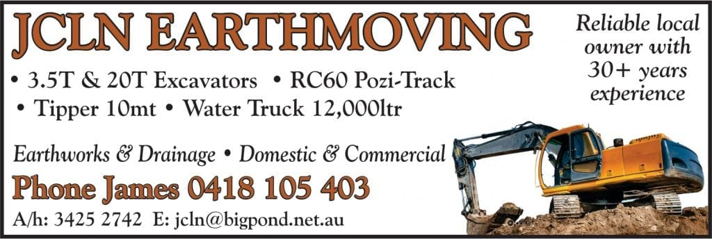 JCLN Earthmoving earthworks, drainage domestic and commericial.