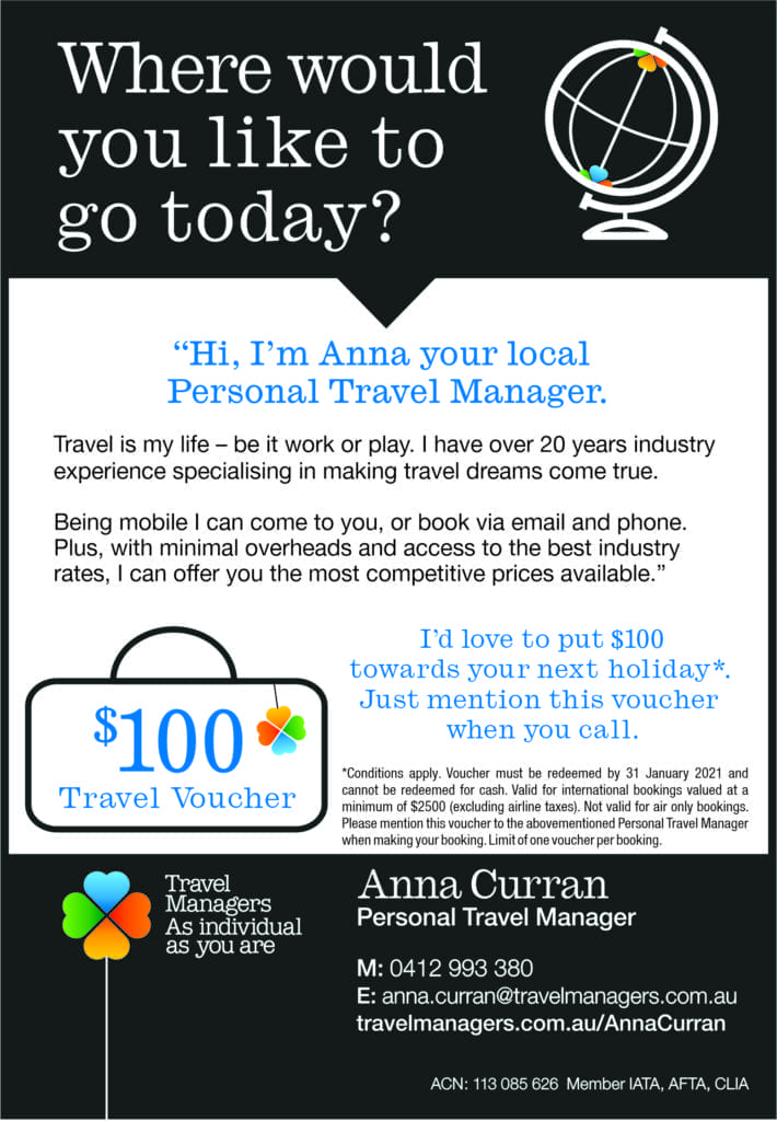 Anna Curran a personal travel manager.