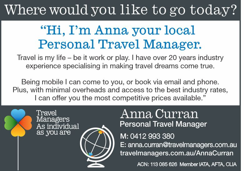 Travel Manager – Anna Curran for positive travel experiences